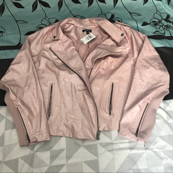 dd8be22e3bd NWT Rose Gold faux leather torrid jacket